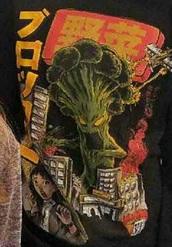 sweater,red,yellow,anime,manga,broccoli