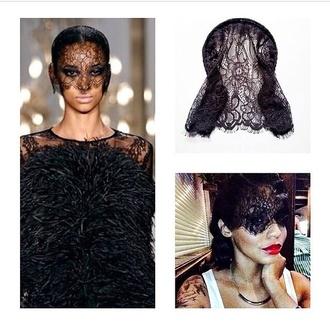 hair accessories black mask mask lace lace mask black lace mask black