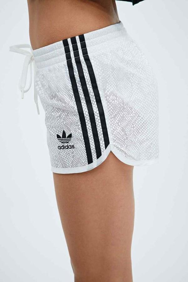 Shorts: white shorts, snake print, gym shorts, adidas ...