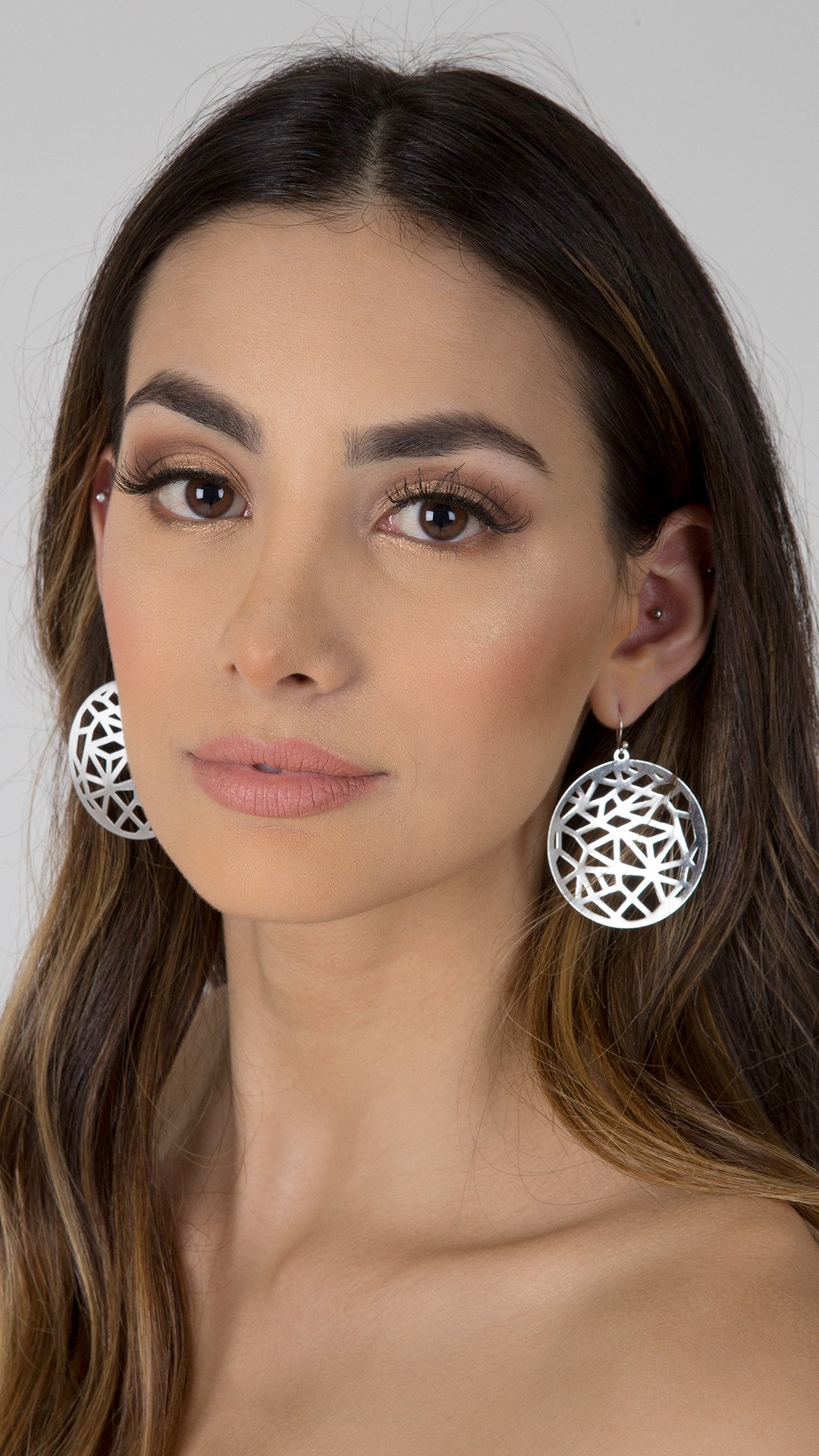 Prism Cutout Circle Earring