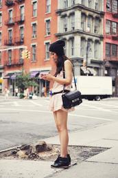 neon blush,dress,belt,hat,shoes