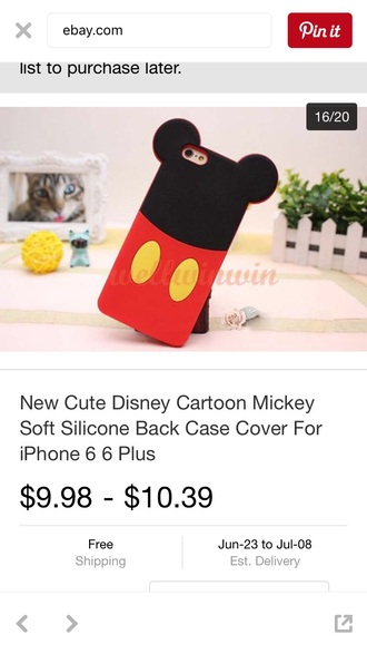phone cover mickey mouse iphone case iphone 6 case
