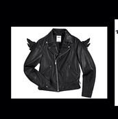 jacket,leather jacket,adidas wings,jeremy scott,black leather jacket,wings,pinterest