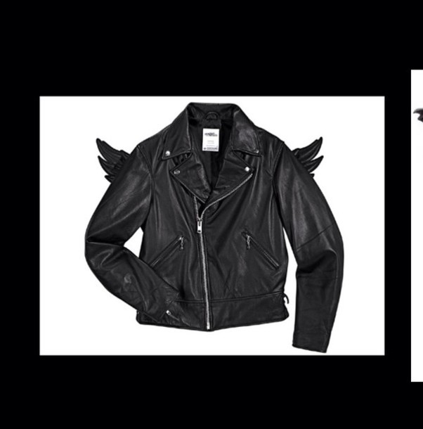 jacket leather jacket adidas wings jeremy scott black leather jacket wings pinterest