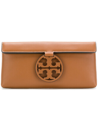 women bag clutch leather brown