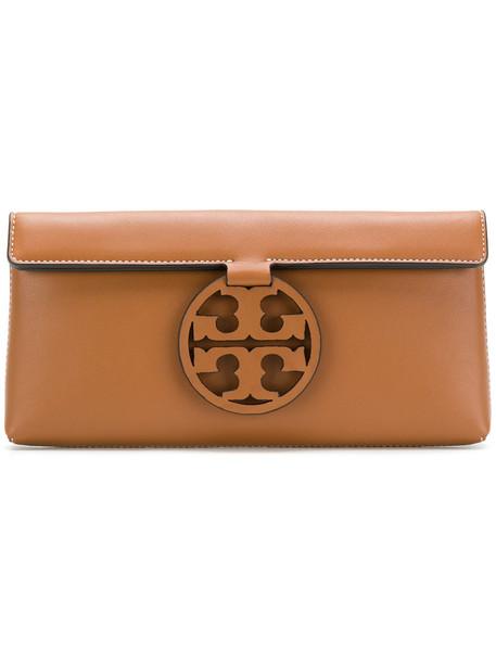Tory Burch women bag clutch leather brown