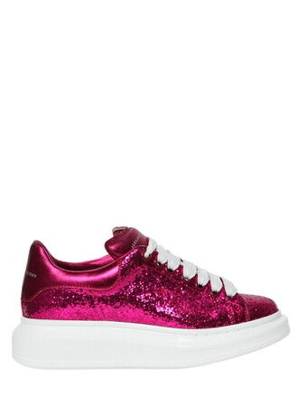 glitter metallic sneakers leather shoes