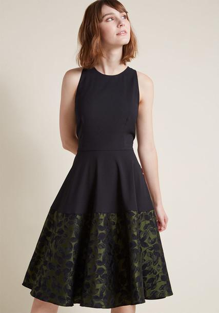 Modcloth dress flare dress flare fit black
