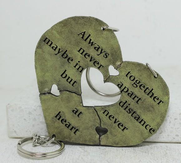 heart jewels bestfriend keychain