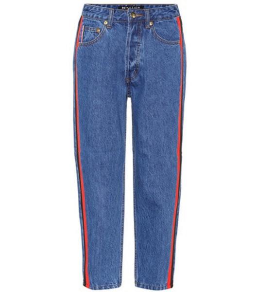 P.E Nation Season Lifetime cropped jeans in blue