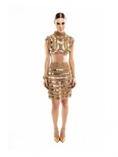 top,chain,gold,edgy,fierce,modern,embellished,egyptian,vogue,runway,new year's eve,night,clubwear,party,event