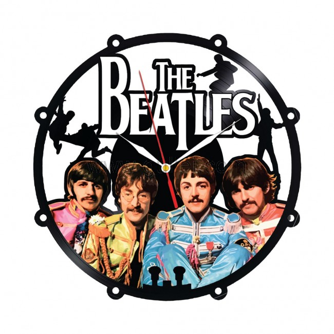 Beatles Colorful Vinyl Clock Wall Decoration Gift Personalized Couples Gifts | Matching Necklaces and Bracelets | Custom Wedding Rings | Engraved Jewelry