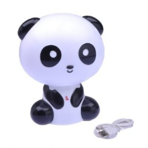 niceEshop(TM) Lovely Cartoon Kungfu Panda Shape USB Notebook Lamp Desk Lamp Light-White&Black - Amazon.com