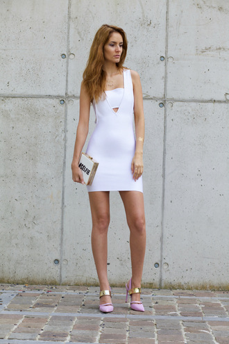from brussels with love blogger white dress bodycon dress