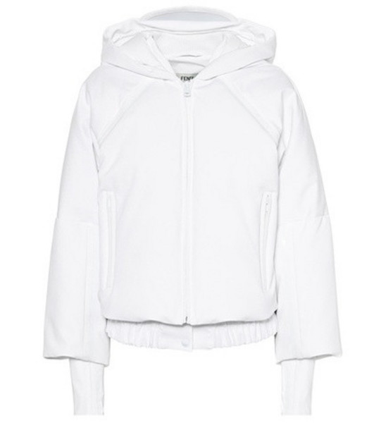 Fendi Cropped hooded jacket in white