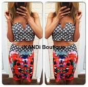 dress,ikandi boutique,crop tops,cropped,top,skirt,floral,floral skirt,v neck,plunge v neck,cute,fashion,trendy,style,outfit,sexy dress,sexy,party dress,evening dress,ibiza dress,two-piece,marbella,las vegas dress,summer dress,set,crop,summer