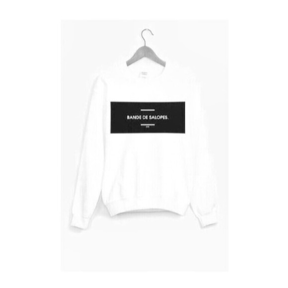 white quote on it sweater black sweatshirt swimwear french cute funny shirt