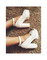 Awesome platform sandals high heels chuncky black white blogger