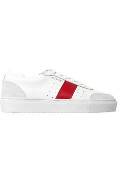 sneakers leather white suede shoes