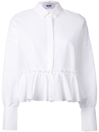 blouse women white cotton top