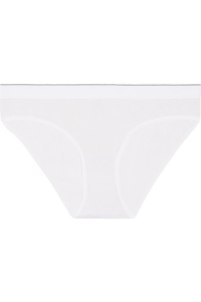 Baserange - Bell Stretch-piqué Briefs - Off-white