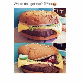 home accessory hamburger food bedding chair room essentials bean bag