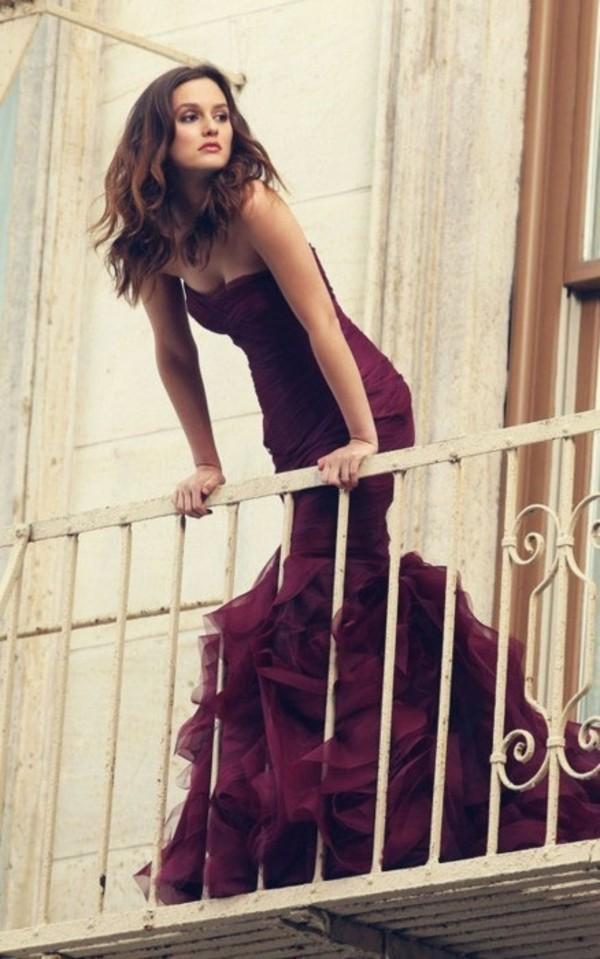 red long dress violet