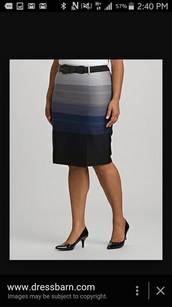 skirt striped sweater