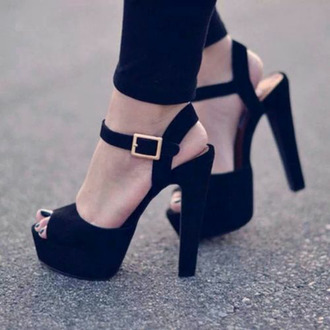 shoes high heels black chunky black steve madden open toes black heels buckled heels heeled sandal