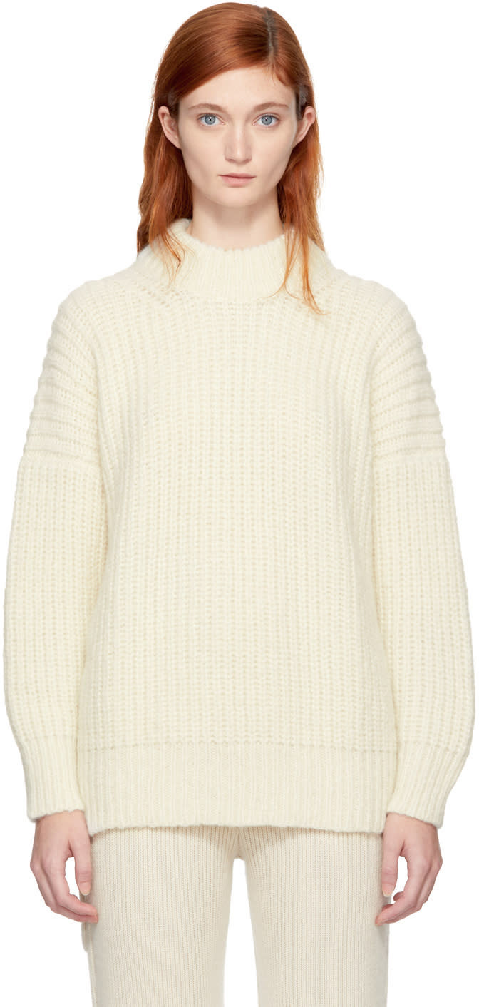 Lauren Manoogian Ssense Exclusive White Fisherman Tunic Sweater ...