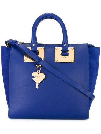 gold blue bag