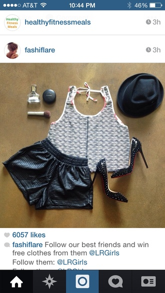 shorts funny fit body triangle pear leather shorts high heels studs sexy outfit summer outfit hourglass figure fashion fashionista shirt hat