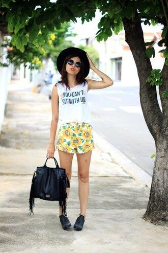 my name is glenn blogger top shorts bag shoes sunglasses