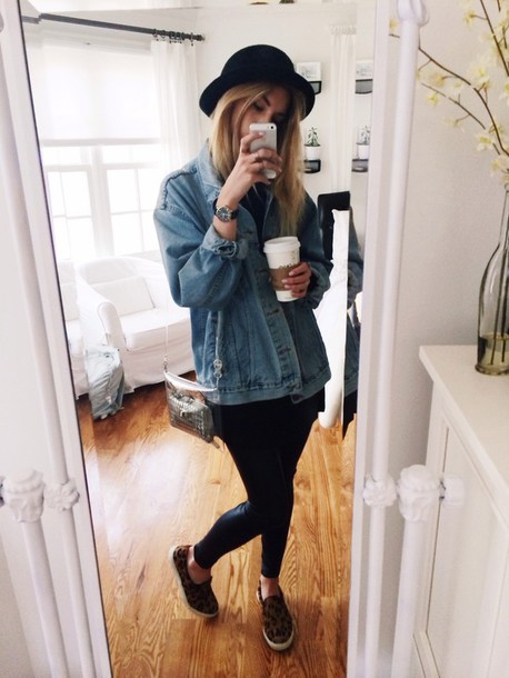 Jacket jeans coat summer denim jacket hat cardigan cute autum outfit cold weather ...