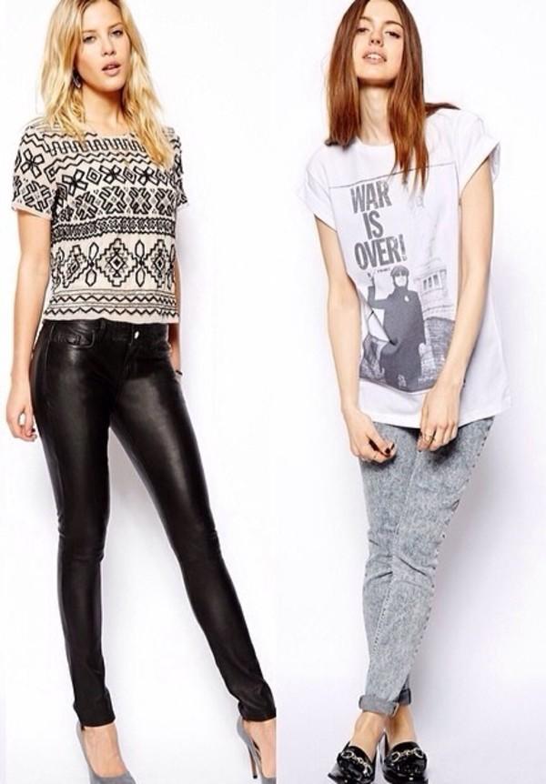t-shirt jeans pants