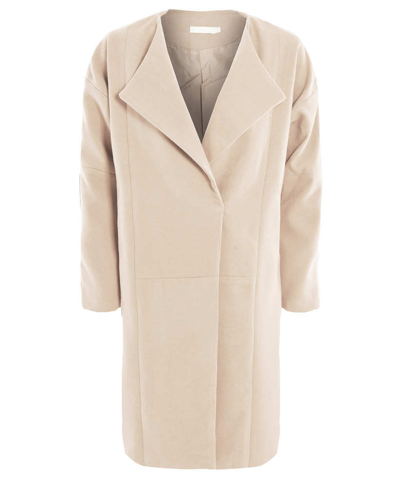 Sugarcoated oversized ecru cocoon coat