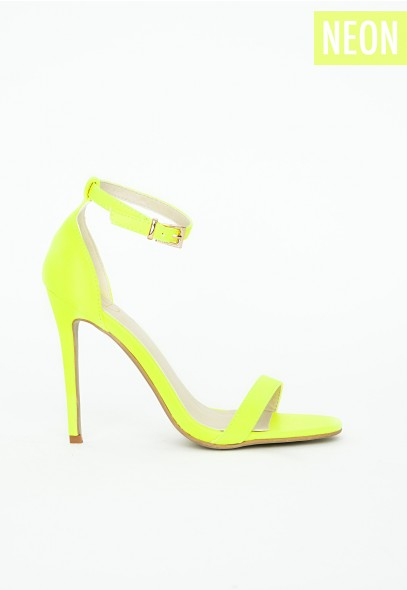 Clara Neon Yellow Strappy Sandals Shoes Missguided