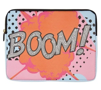 bag pop art boom tablet cover phone cover quote on it holiday gift valentines day gift idea