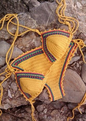 swimwear bikini crochet beach