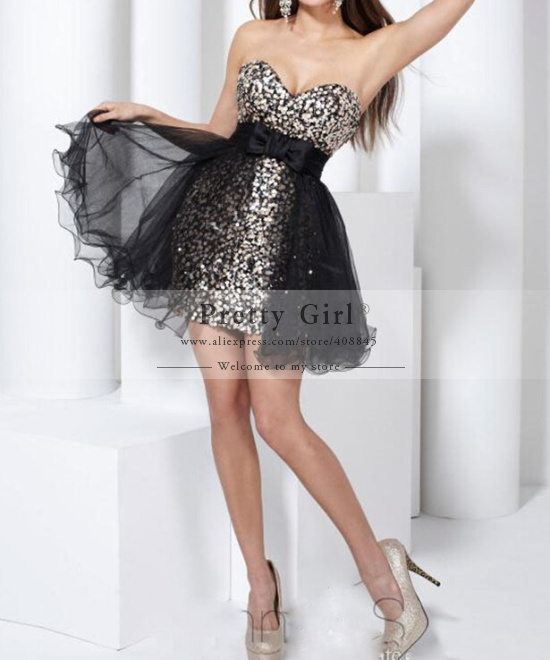 Aliexpress.com : buy unique gold sequined bandage short homecoming dresses with removable black tulle sexy party dress cheap graduation dress on sale from reliable dress up costumes games suppliers on pretty girl trade co., ltd