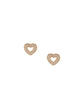 heart mini metallic women earrings stud earrings jewels