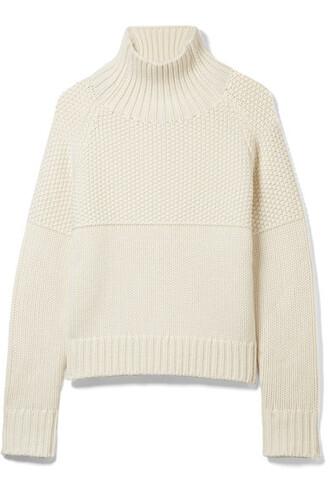 sweater turtleneck turtleneck sweater white off-white