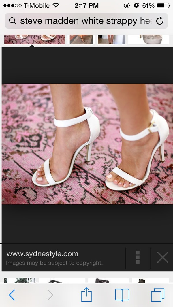 shoes white white heels strappy heels