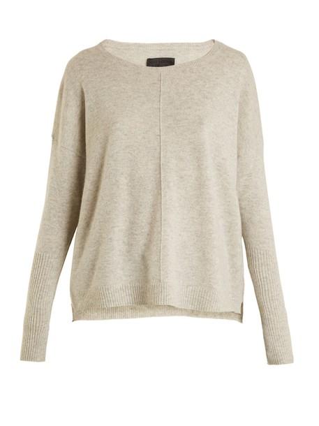 Nili Lotan sweater knit light grey
