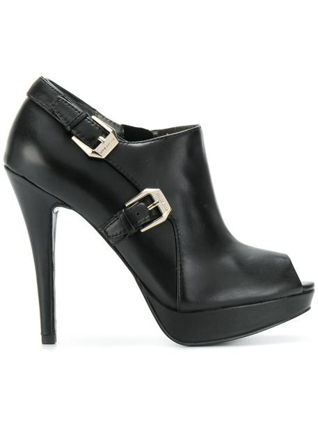 Versace Jeans women embellished pumps leather black shoes