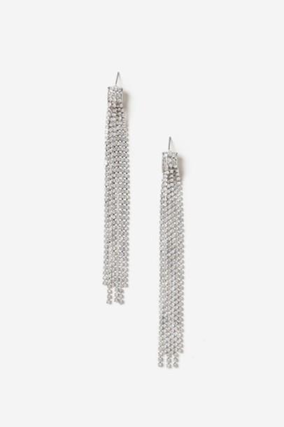 Topshop clear earrings jewels