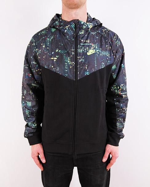jacket nike wind runner windbreaker menswear ghetto black dope swag baddies clean menswear mens jacket mens windbreaker windbreaker
