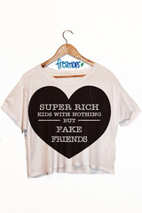 Super Rich Kids Crop Shirt - Fresh-tops.com