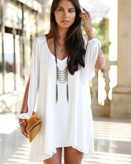 Summer pretty dress white