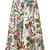 Philosophy Di Lorenzo Serafini leaf print skirt, Women's, Size: 44, White, Linen/Flax/Silk